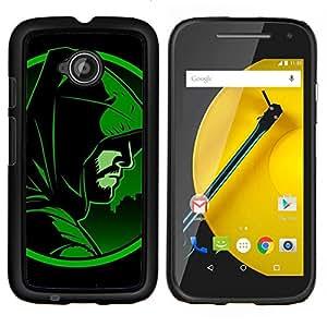 LECELL--Funda protectora / Cubierta / Piel For Motorola Moto E2 E2nd Gen -- Flecha héroe --