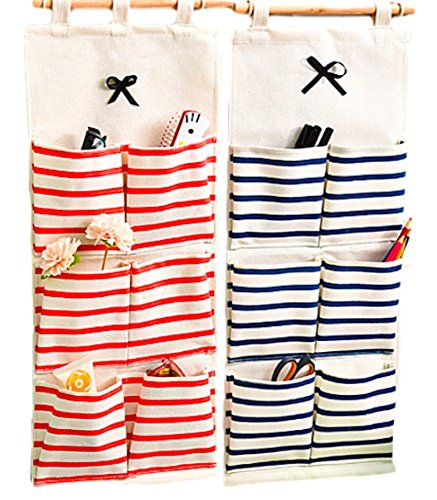 Moon Market Hanging Organizer With Pockets Fabric Wall Door