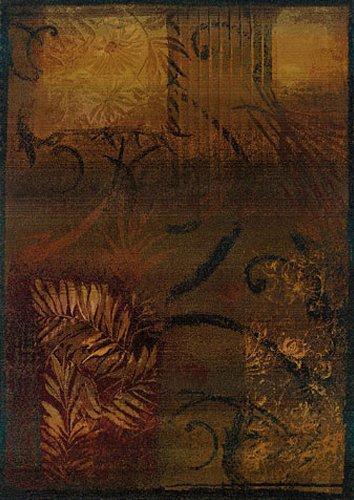 Sphinx Kharma Area Rug 1163B Brown Scrolls Leaves 2' x 3' ()