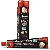 Amore Garlic Tomato Paste,  4.5 Ounce Tube