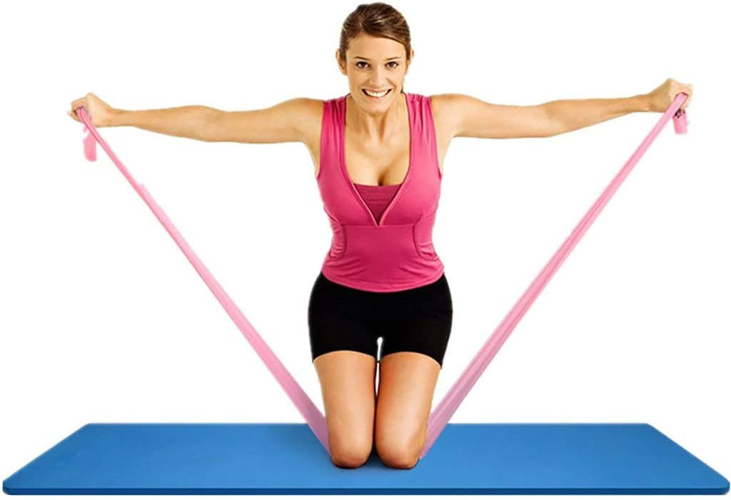 Multicolor 3Pcs Elastic Yoga Pilates Stretch Resistance 1.5m Long Exercise Fitness Band Rope Arm Waist Sport Strap Leg Belt Flexibility YunZyun Yoga