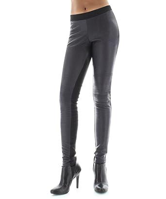 810d3749189ae MeMoi Palama Faux Leather Front Legging - Trendy Fashion Leggings at Amazon  Women's Clothing store: