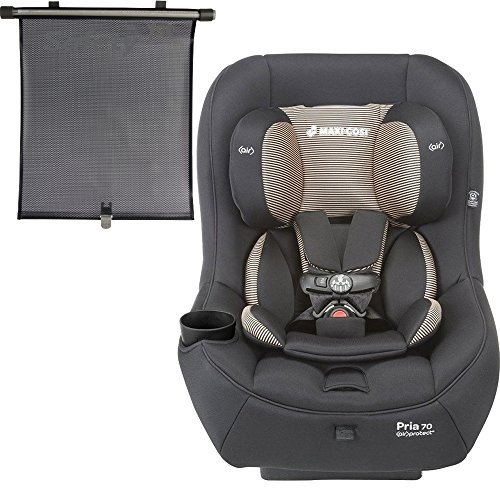 2015 Maxi-Cosi Pria 70 Convertible Car Seat, Black Toffee with BONUS Retractable Window Sun Shade
