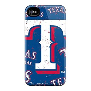 Scratch Protection Hard Cell-phone Case For Iphone 6 (KCd3102RnWt) Support Personal Customs High-definition Texas Rangers Skin