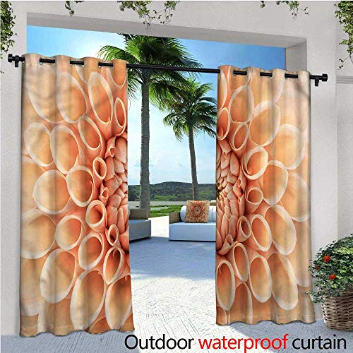 Dahlia Petals Punch - warmfamily Abstract Outdoor Blackout Curtains Dahlia Petals in Autumn Outdoor Privacy Porch Curtains W96 x L96