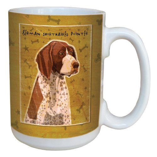 Tree-Free Greetings sg44023 German Shorthaired Pointer by John W. Golden Ceramic Mug with Full-Sized Handle, 15-Ounce (Pointer German Mug Shorthaired)