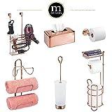 mDesign Freestanding Metal Wire Toilet Paper Roll