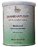 Shankhpushpi Capsules (USDA CERTIFIED ORGANIC) Convolvulus pluricaulis - 108 Vcaps of 500mg each