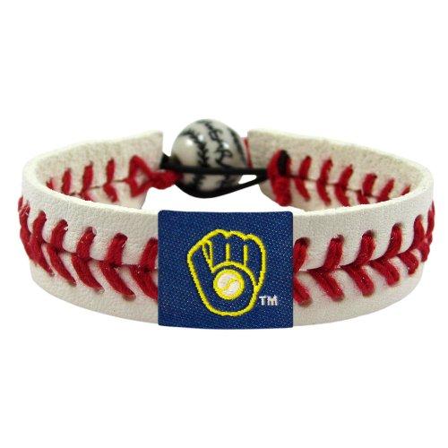 (GameWear Milwaukee Brewers Bracelet Retro Classic Baseball )