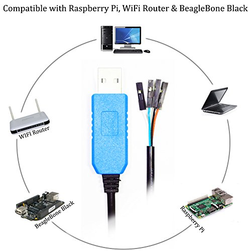 Youngneer PL2303TA USB to TTL Serial Cable for Raspberry Pi BeagleBone Programming Console Debug Cable 3.3Ft 5 Pack by Youngneer (Image #5)