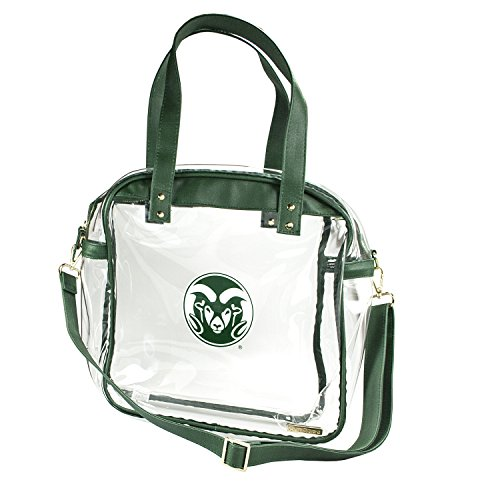 CAPRI DESIGNS CLEARLY FASHION LICENSED STADIUM COLLECTION CARRYALL TOTE---MEETS STADIUM REQUIREMENTS (Colorado State University) by CLEARLY FASHION
