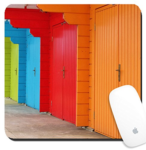Luxlady Suqare Mousepad 8x8 Inch Mouse Pads/Mat design IMAGE ID: 24501506 Beach huts at - Huts Cheap