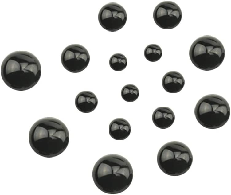 TOVOT 760Pcs Round Black Flat Doll Eyes 4mm-10mm Safety Eyes Assorted Size Button Eyes for Teddy Bear Doll Plush Animal Puppet Crafts
