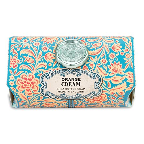 - Michel Design Works Triple Milled Shea Butter Bath Soap Bar, Orange Cream