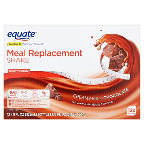 Equate Meal Replacement Shake, Creamy Milk Chocolate, 11 fl oz, 12 Count (Pack of 2) by Equate's (Image #2)