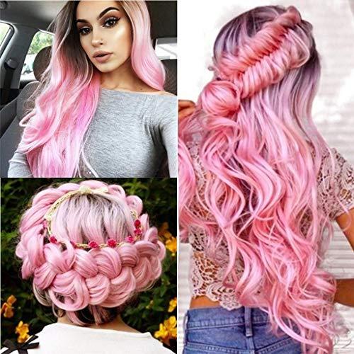 Celendi Wig,Long Curled Hair Gradient Natural Hair Dyeing
