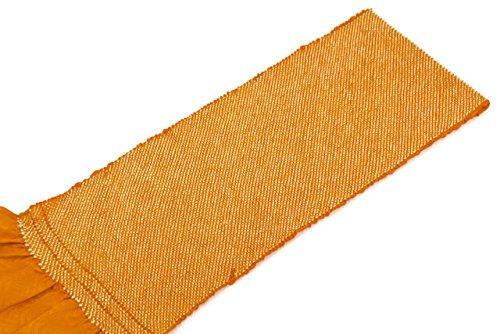 帯揚げ 橙色 オレンジ 正絹 四つ巻 無地 総絞り 鹿の子 帯あげ おびあげ 成人式向き 振袖向き ふりそで
