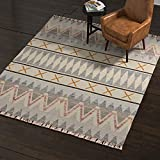 Rivet Southwestern Geometric Wool Rug, 8' x
