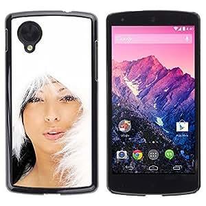 YOYO Slim PC / Aluminium Case Cover Armor Shell Portection //Christmas Holiday Hot Asian Girl Woman 1007 //LG Google Nexus 5