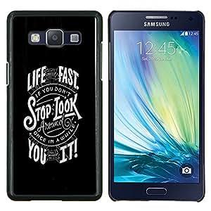 """Be-Star Único Patrón Plástico Duro Fundas Cover Cubre Hard Case Cover Para Samsung Galaxy A5 / SM-A500 ( Tipografía Fast Life"""" )"""