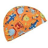 The Undersea World Children's Knitted Swimming Caps Baby Swimming Cap,Orange