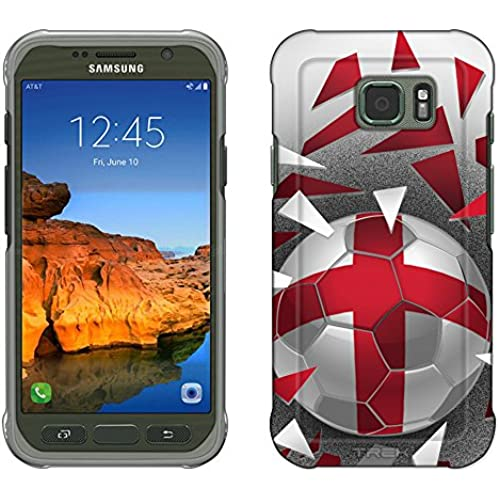 Samsung Galaxy S7 Active Case, Snap On Cover by Trek Soccer Ball England Flag Slim Case Sales