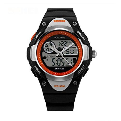 Children's Digital Watch Wrist Watch Fashion Watch Sport Watch Digital AlarmCalendar/Date / Day Water Resistant Watch (Style : C) (Watch Gmt Date)