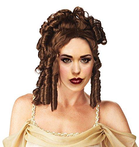 UHC Grecian Athenian Goddess Greek Roman Wig Halloween Costume Accessory (Auburn) (Goddess Adult Athenian Costume)