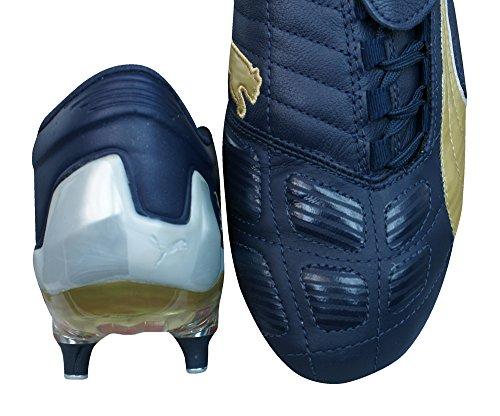 Puma V Konstrukt II SG Mens Leather Soccer Boots / Cleats Navy Hj6dXLP