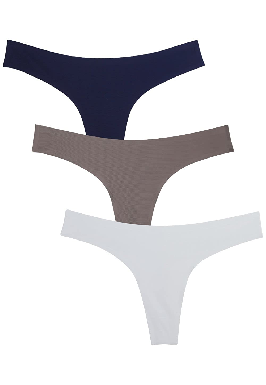 Wealurre Women's Microfiber Low Rise No Show Thong Pantie WQB2925