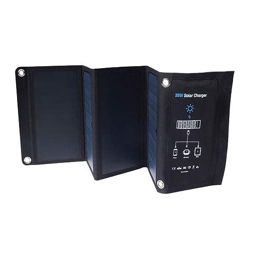 SEESEE.U Panel Solar Plegable, Cargador Solar, Cargador ...