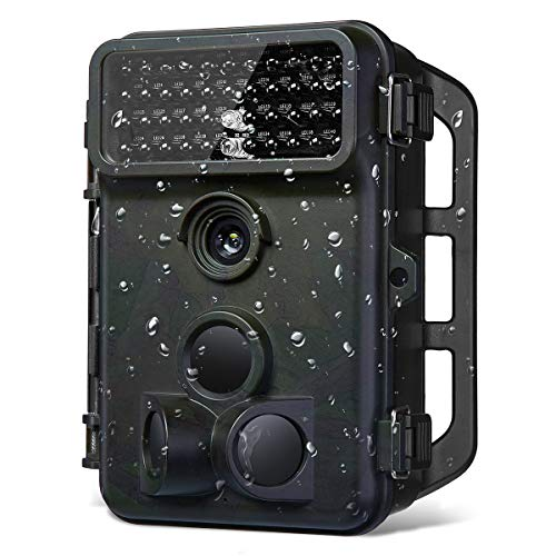 Powerextra 16MP 1080P HD Hunting Trail Game Camera 120° Wide Angle 3 Zone No Glow IR Infrared Night Vision Waterproof Wildlife Outdoor Monitoring Camera