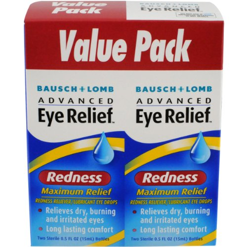 Bausch & Lomb Advanced Eye Relief Maximum Redness Reliever, 0.5 Ounce Bottle Twinpack (Pack of 3) ()