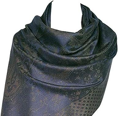 GFM Sciarpa in stile pashmina in piume e disegni floreali FRL4