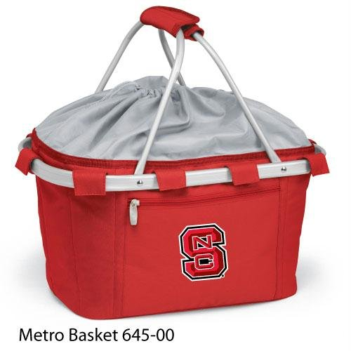 PICNIC TIME 645-00-100-422-0 North Carolina State Embroidered Metro Picnic Basket, Red