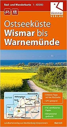 Ostseekuste Wismar Bis Warnemunde 1 40 000 Rad Und Wanderkarte