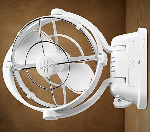 Caframo Sirocco II 12/24V Gimbal Fan, One Size, White by Caframo Sirocco (Image #5)