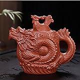 Traditional Teapot Dragon and Phoenix Tea pot Premium tea infuser purple clay tea set,Kung fu teapot kettle