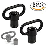 Braudel Sling Mount Kit with QD swivels, Quick Detachable Push Button Sling Swivel Adapter for Rifle Hunting, 1.25 Inch Loop