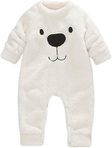 Unisexe Vêtements de bébé en coton à capuche barboteuse Cartoon Épaissir Hiver Chaud Combinaison