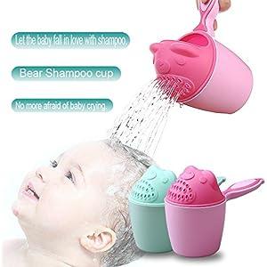 Vaso de champú para bebé, cuchara de bebé, ducha, agua de baño,