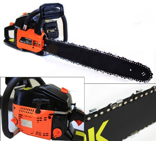 NEW 22'' Gas Chainsaw Wood Cutter w Electronic Ignition Power Equipment 2.4HP