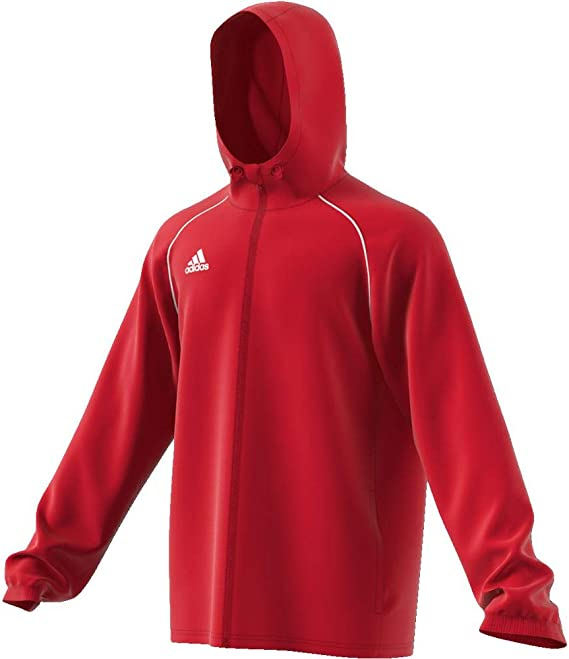 adidas Performance Core 18 Rain Jacket Power Red Mens