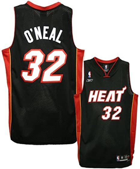 Amazon Com Reebok Miami Heat 32 Shaquille O Neal Black Youth Swingman Jersey Clothing