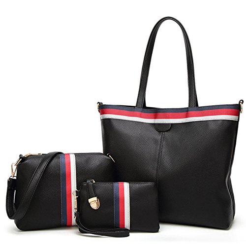 Piccola Pezzi Tracolla Black Moda Capacità Grande Handbag Casual Donna Donne Borse CEqxUTw0f