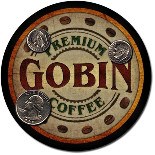 Gobin Family Name Coffee Drink Coasters - 4 Pack