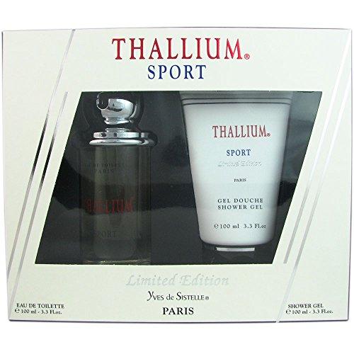 Yves de Sistelle Thallium Sport Fragrance Set for Men: EDT Spray 3.3 Ounce & Shower Gel 3.3 - Sport Thallium Cologne
