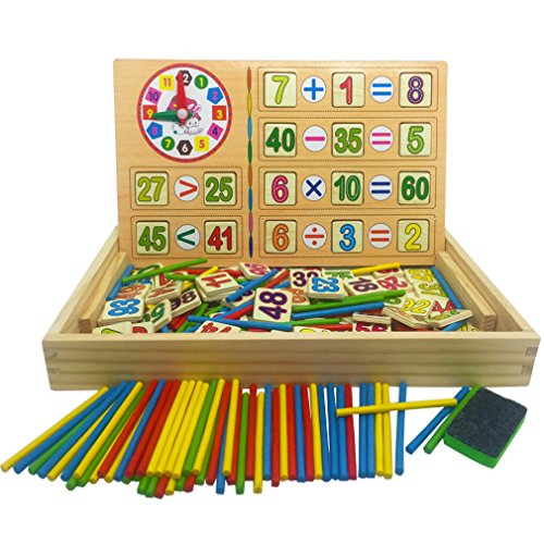 MICHLEY Montessori Math Rods Toddler Teaching Tools Children Counting Toys