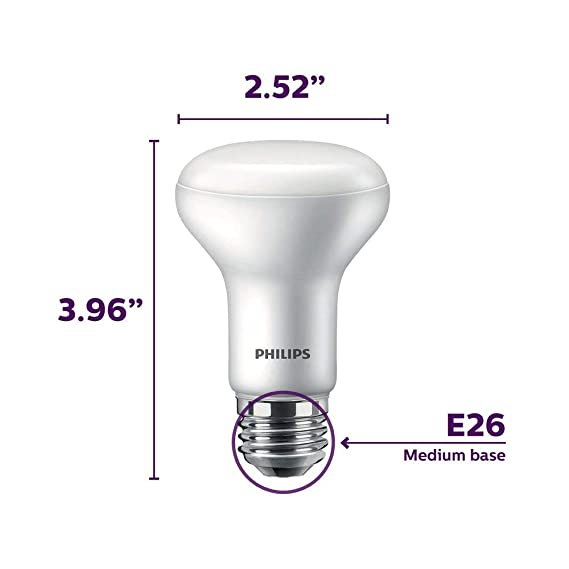 (12-Pack) Philips 456979 45 Watt Equivalent 2700K - 2200K R20 Dimmable Soft White LED Performance Reflector - - Amazon.com