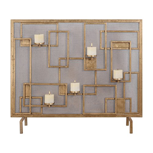 Fireplace Screen Candle Holder in Metallic (Fireplace Screens Candles)
